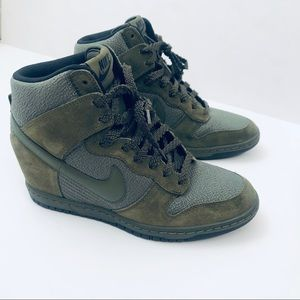 Nike Sky Hi Essential Rough Green Wedge Sneakers